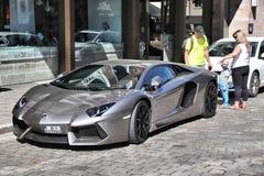Coche de lujo blanco de Lamborghini fotos de archivo libres de regalías