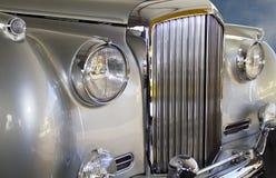 Coche de lujo de plata europeo costoso Fotografía de archivo