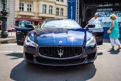 Coche de lujo del mismo tamaño Maserati Quattroporte VI, desde 2013 Foto de archivo libre de regalías