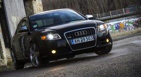 Coche de lujo exterior de Audi A4 Imagenes de archivo