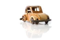 Coche de madera Foto de archivo libre de regalías