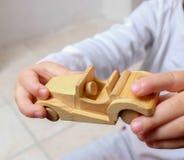 Coche de madera Imagen de archivo libre de regalías