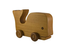 Coche de madera de la ballena del juguete imagen de archivo libre de regalías