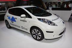 Coche de Nissan Autonomous Drive Fotos de archivo