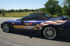 Coche de paso de Indy 500 Fotografía de archivo libre de regalías