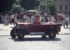 Coche de Praga del vintage en Praga Foto de archivo libre de regalías