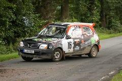 Coche de Rallye de los micrones de Nissan Fotografía de archivo libre de regalías
