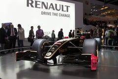 Coche de Renault F1 del loto - demostración de motor de Ginebra 2011 Imágenes de archivo libres de regalías