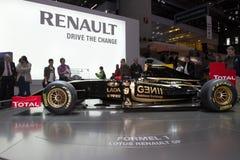 Coche de Renault F1 del loto - demostración de motor de Ginebra 2011 Fotografía de archivo
