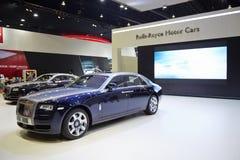 Coche de Rolls Royce en la exhibición en la 36.a Bangkok MES internacional Fotos de archivo libres de regalías
