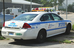 Coche de seguridad de la escuela de NYPD Fotografía de archivo