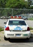 Coche de seguridad de la escuela de NYPD en Brooklyn, NY Imagen de archivo