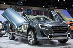 Coche de Subaru en la expo internacional 2015 del motor de Tailandia Imagenes de archivo