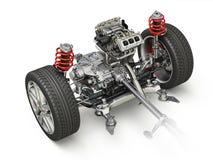 Coche de SUV bajo representación técnica del carro 3 D Parte delantera ilustración del vector