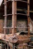 Coche de tren abandonado de carga del carbón Fotos de archivo libres de regalías
