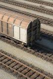 Coche de tren del cargo Imagenes de archivo