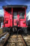 Coche de tren ferroviario viejo del Caboose Fotos de archivo