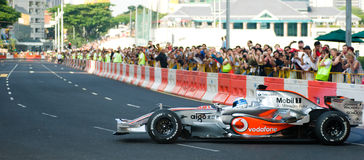 Coche de Vodafone McLaren Mercedes F1; Mika Hakkinen Imagenes de archivo