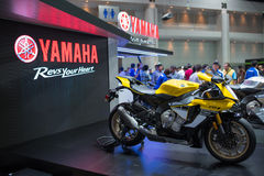 Coche de Yamaha en la expo internacional 2015 del motor de Tailandia Imagenes de archivo