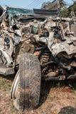 Coche del accidente Fotografía de archivo