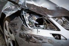 Coche del accidente imagen de archivo libre de regalías