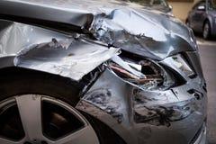 Coche del accidente foto de archivo