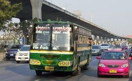 coche del autobús de Bangkok Foto de archivo libre de regalías