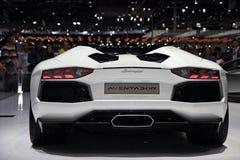 Automóvil descubierto de Lamborghini Aventador LP700-4 - salón del automóvil 2013 de Ginebra Fotos de archivo