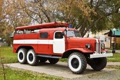 Coche del bombero anticuado imagen de archivo