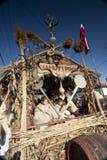 Coche del carnaval en el 'Busojaras', el carnaval del entierro del invierno Imagenes de archivo