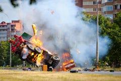Coche del coche de bomberos Imagenes de archivo