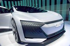 Coche del concepto de Audi del futuro en CES fotografía de archivo libre de regalías
