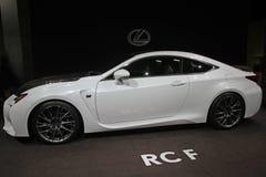 Coche 2015 del concepto de Lexus RCF del blanco Imagen de archivo libre de regalías