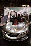 Coche del concepto de Saab - demostración de motor de Ginebra 2011 Fotografía de archivo