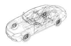 Coche del concepto Vector ilustración del vector