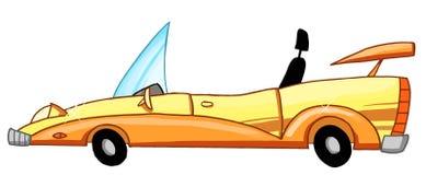 Coche del convertible de la historieta Foto de archivo libre de regalías