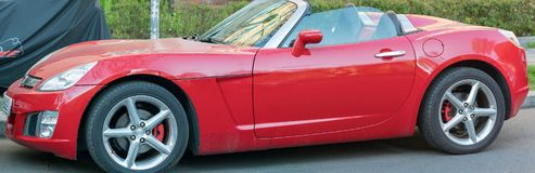 Coche del cupé de Opel GT Fotos de archivo