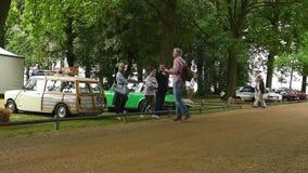 Coche del descapotable de la obra clásica del automóvil descubierto 1934 del deporte de Mercedes-Benz 380K metrajes
