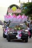 Coche del desfile para el festival del krathong de Loy Fotos de archivo libres de regalías