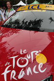 Coche del director del Tour de France Fotos de archivo