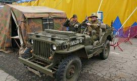 Coche del ejército Foto de archivo libre de regalías