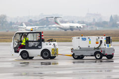 Coche del equipaje del aeropuerto Fotos de archivo libres de regalías