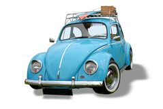 Coche del escarabajo de la vendimia   Foto de archivo