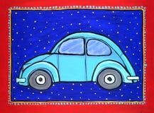 Coche del escarabajo de Volkswagen Fotos de archivo libres de regalías