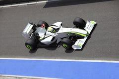 Coche del Fórmula 1 en la acción Fotos de archivo