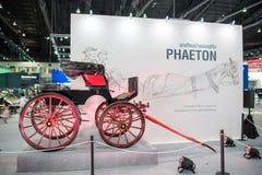 Coche del faetón del vintage en la expo internacional 2015 del motor de Tailandia Imágenes de archivo libres de regalías