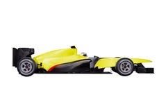 Coche del Fórmula 1 con el camino Imagenes de archivo