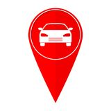 Coche del indicador del mapa Imágenes de archivo libres de regalías