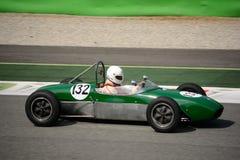 Coche 1960 del joven de la fórmula de Lotus 18 Fotografía de archivo libre de regalías