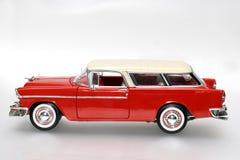 Coche del juguete de la escala del metal de Chevrolet 1955 Fotografía de archivo